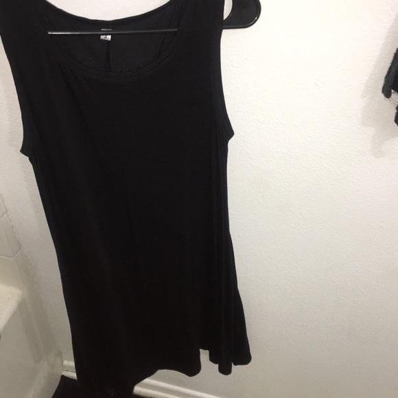 Tops - Long black dress/ tank top. Size small.